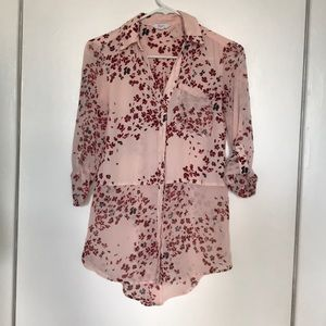 Candie's: Button-down Cherry Blossom Blouse